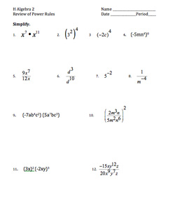 Printables Algebra 1 Review Worksheet worksheets mr perones rockin math site 12314 laws of exponents review worksheet